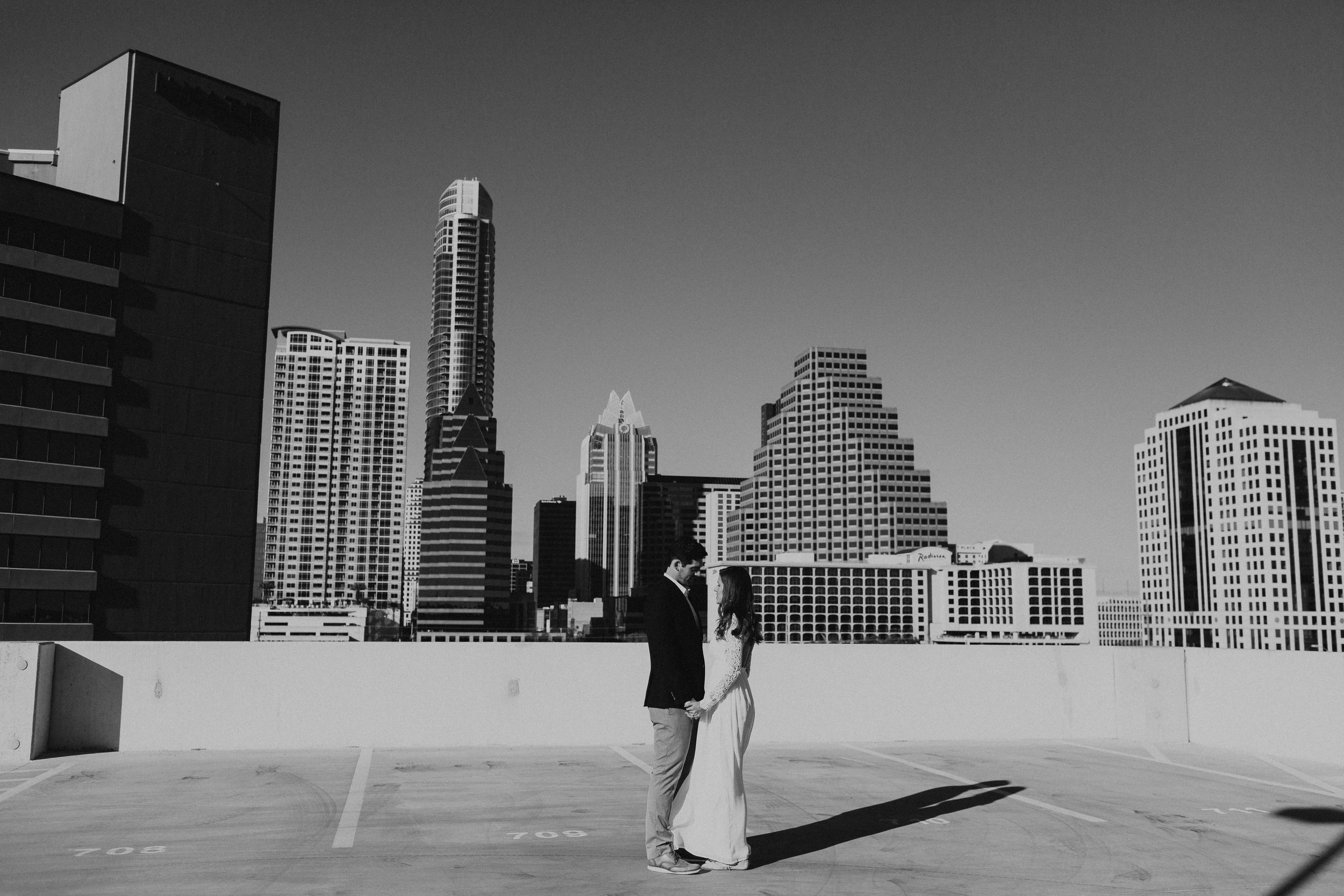 Morgan + Christian | Engagements | Austin, TX skyline & Emma Long Metropolitan Park-4