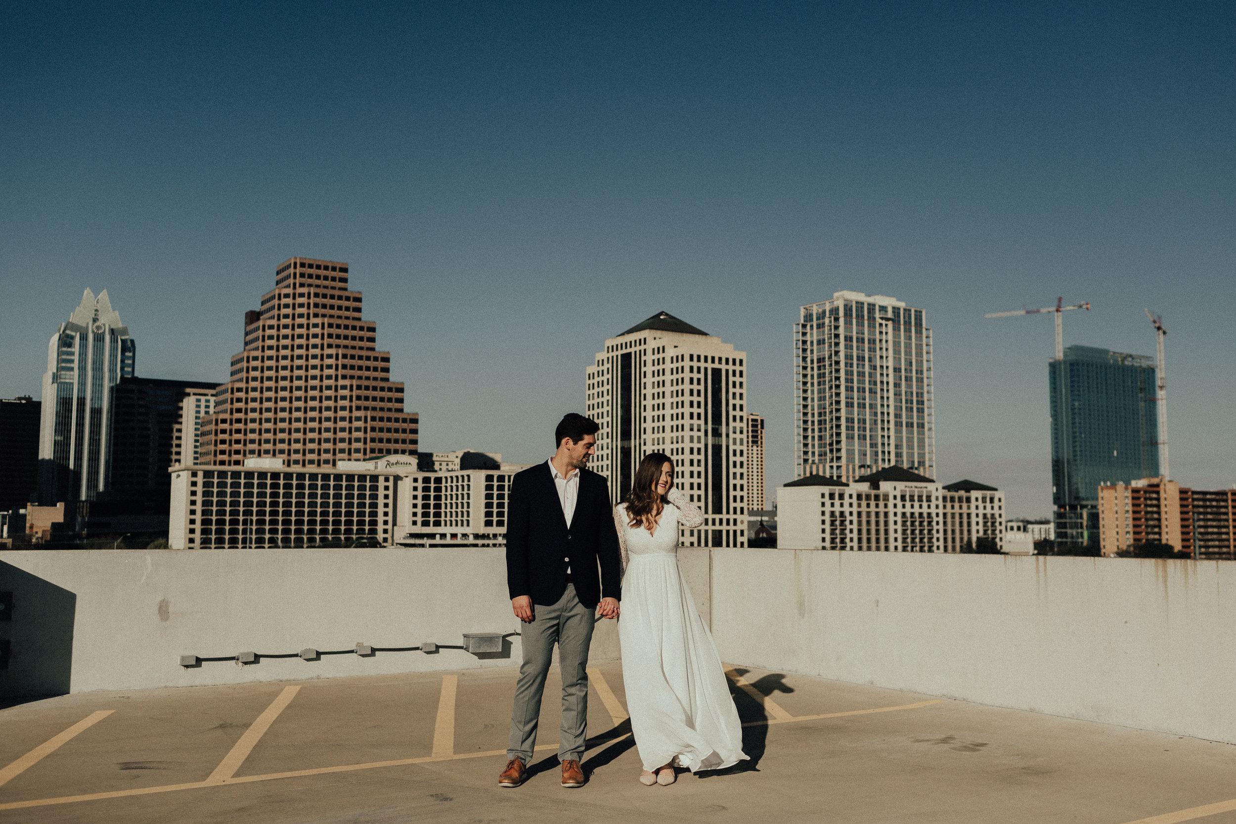 Morgan + Christian | Engagements | Austin, TX skyline & Emma Long Metropolitan Park-6