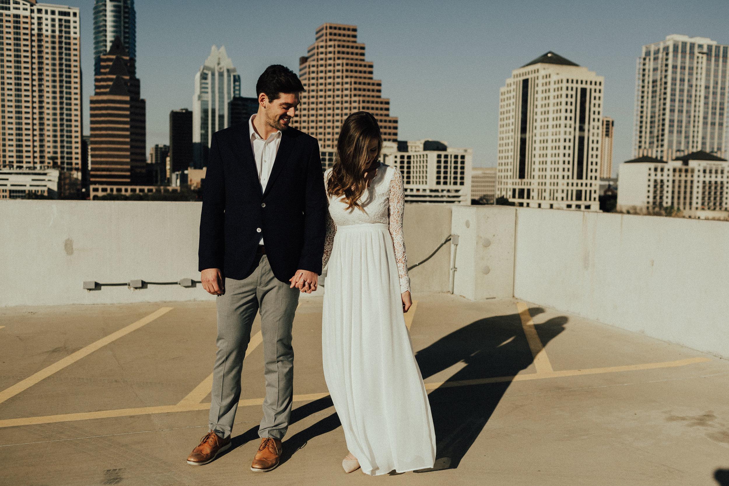 Morgan + Christian | Engagements | Austin, TX skyline & Emma Long Metropolitan Park-7