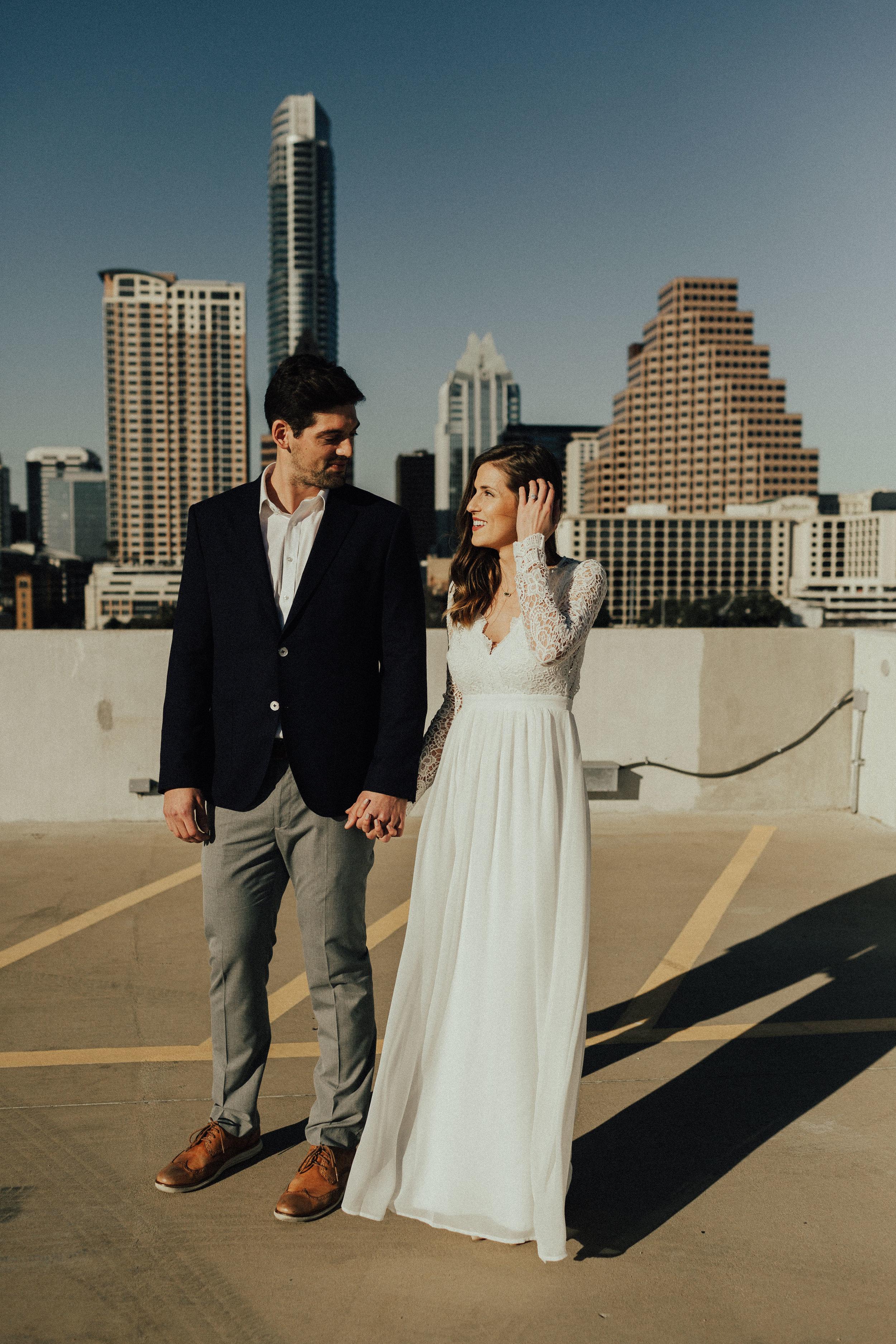 Morgan + Christian | Engagements | Austin, TX skyline & Emma Long Metropolitan Park-8