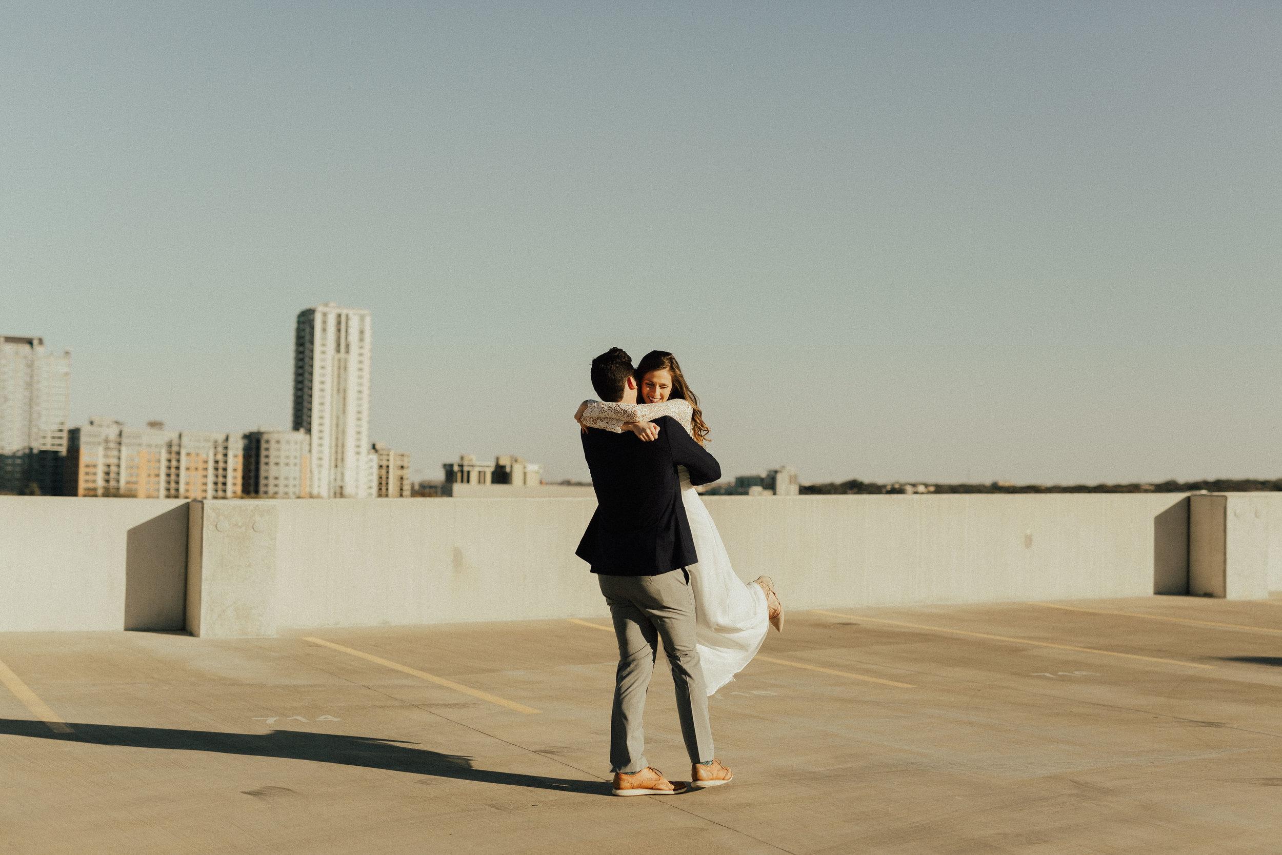 Morgan + Christian | Engagements | Austin, TX skyline & Emma Long Metropolitan Park-17