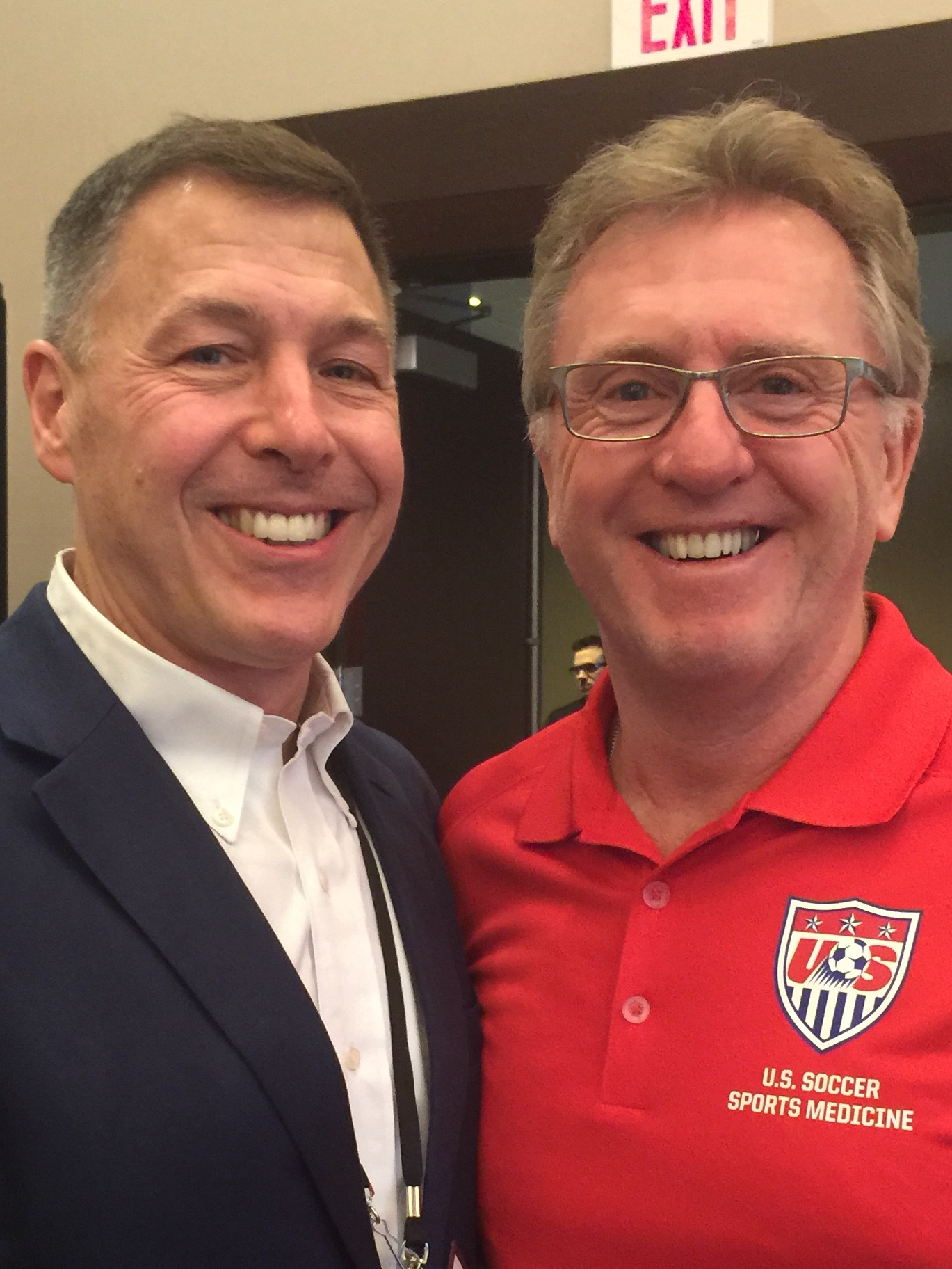 Dr. Monto and Hughie O'Malley, director of US Soccer Sports Medicine.