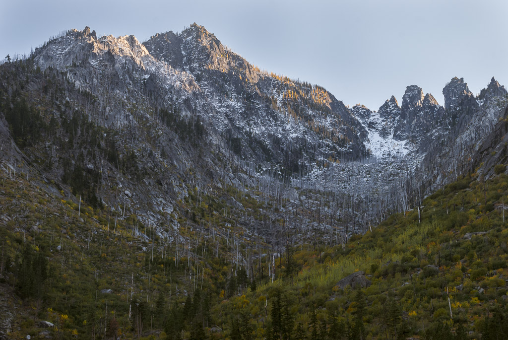First snows in the Enchantments near Leavenworth, Washington