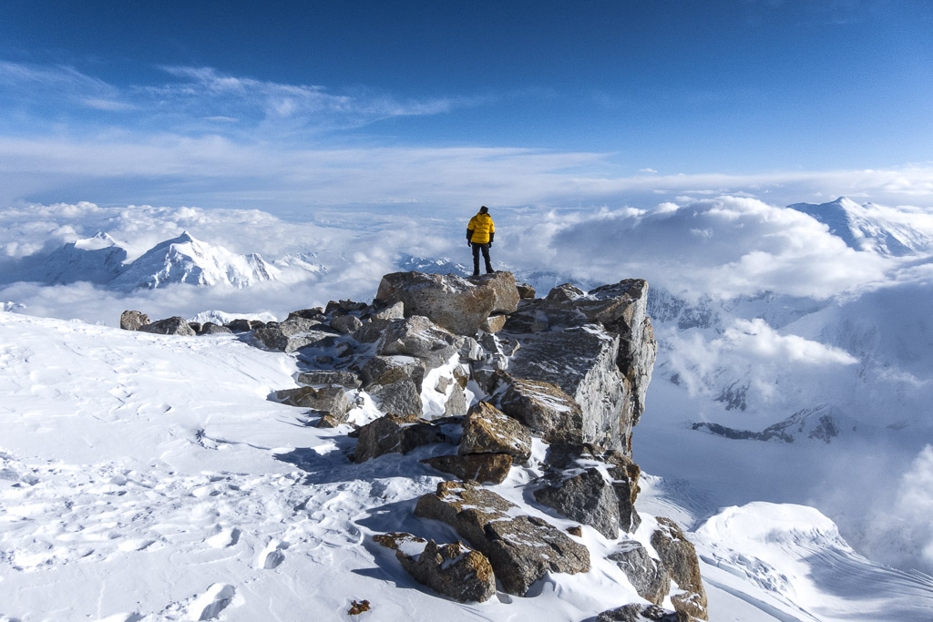 View from High Camp on the West Buttress Route, Denali National Park, Alaska