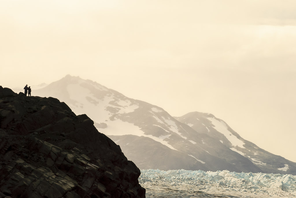 Overlooking the Grey Glacier, Torres Del Paine National Park, Southern Patagonia, Chile