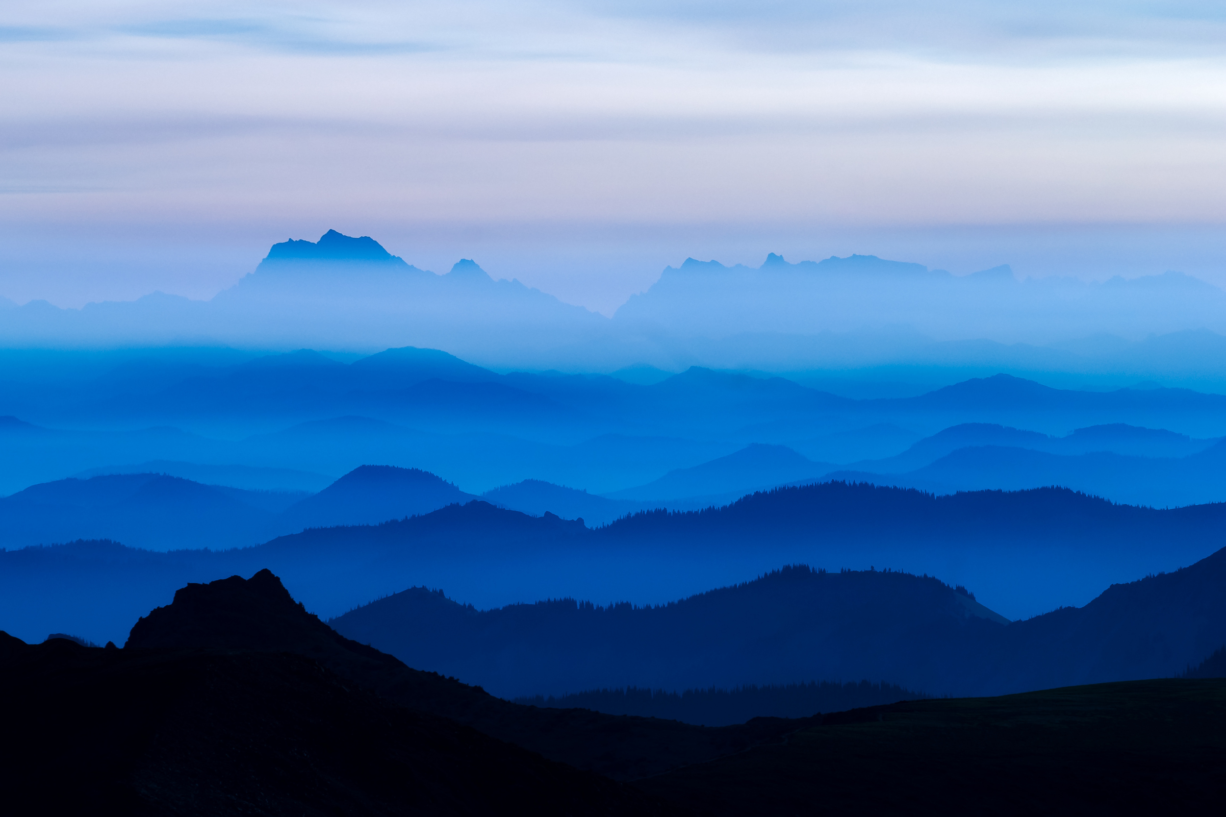 Morning Haze - Mt Stuart and the Cascades
