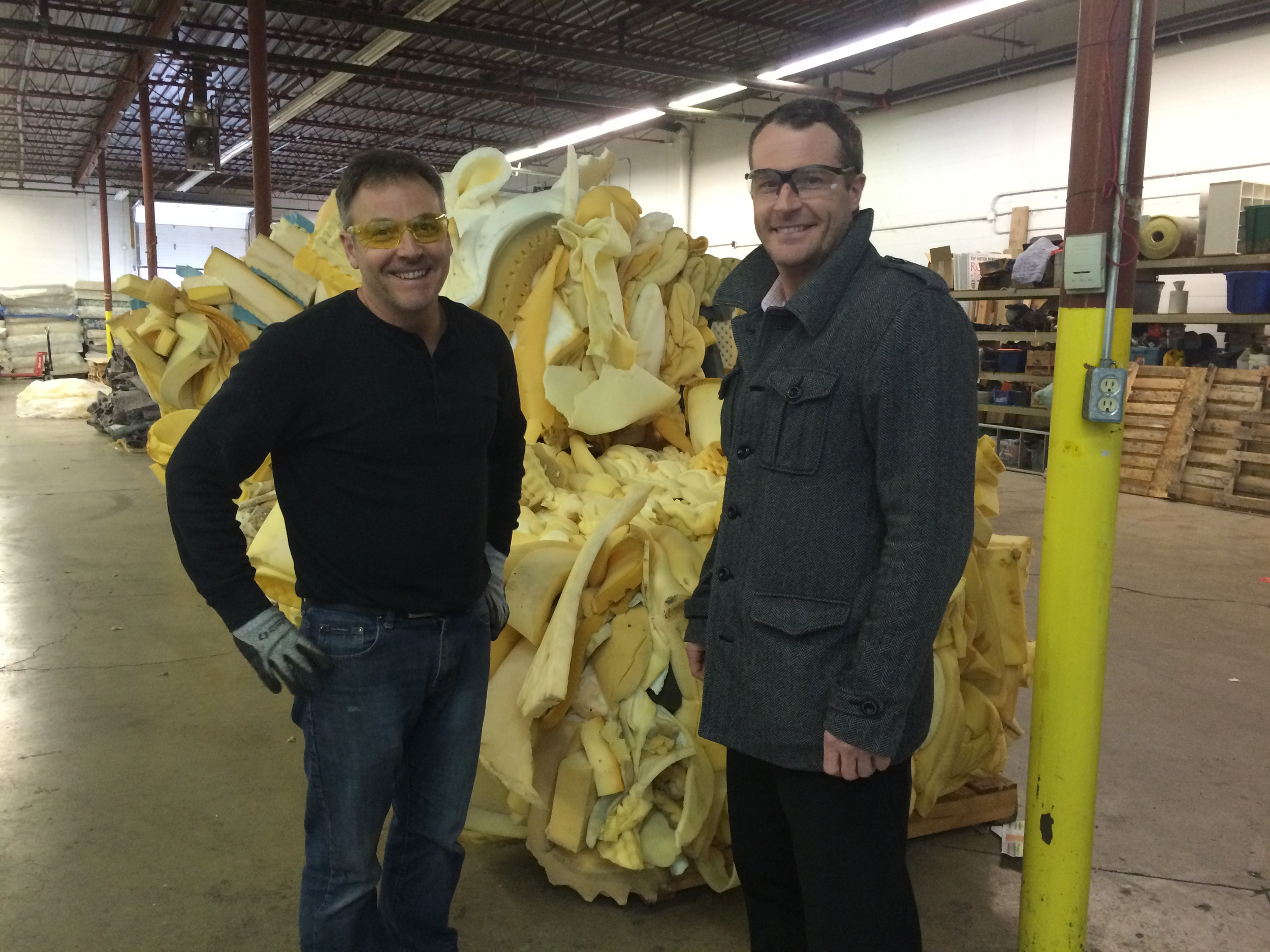 Our Operations Manager,  Ian Gregory  with Re-Matt's Founder / Director  Shawn Cable