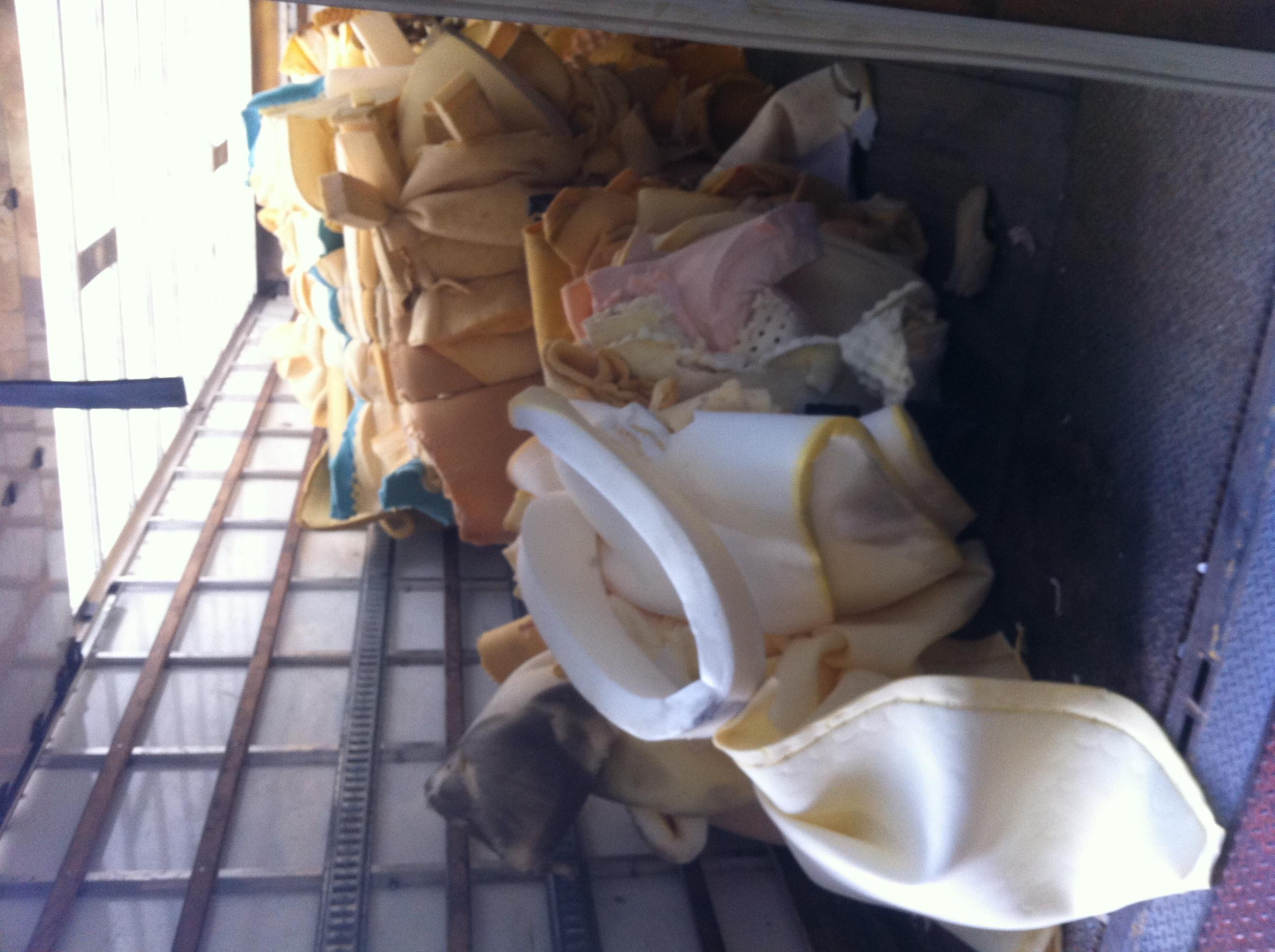 Truck full of Mattress Foam