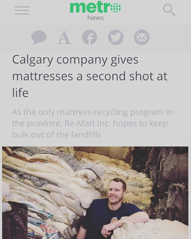 Thanks #metronewscalgary for the feature about #mattressrecycling! We love sharing our vision with #yyc!! http://m.metronews.ca/#/article/news/calgary/2016/01/06/-calgary-company-gives-mattresses-a-second-shot-at-life.html