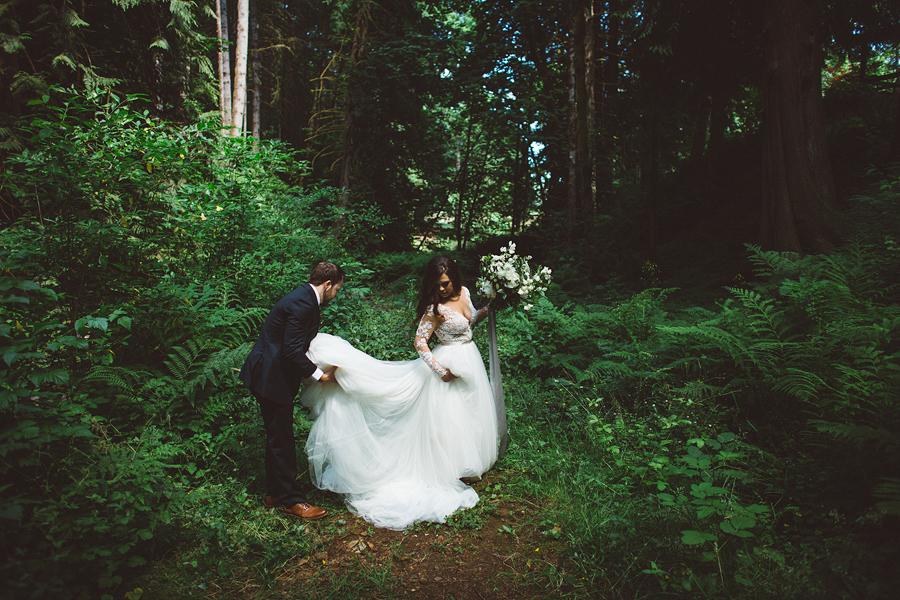 Shannon + Dillon    Portland Forest Wedding    Portland, OR