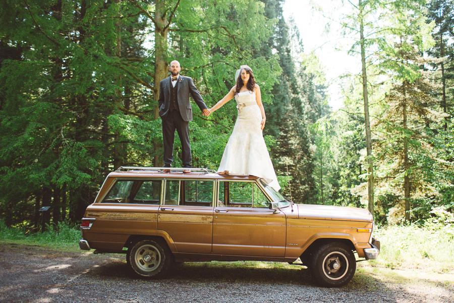 Lisa + Travis    Portland Forest Wedding    Portland, OR