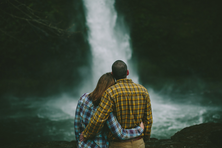 Jami + Cass    Horsetail Falls Engagement Photoshoot    Columbia River Gorge, OR