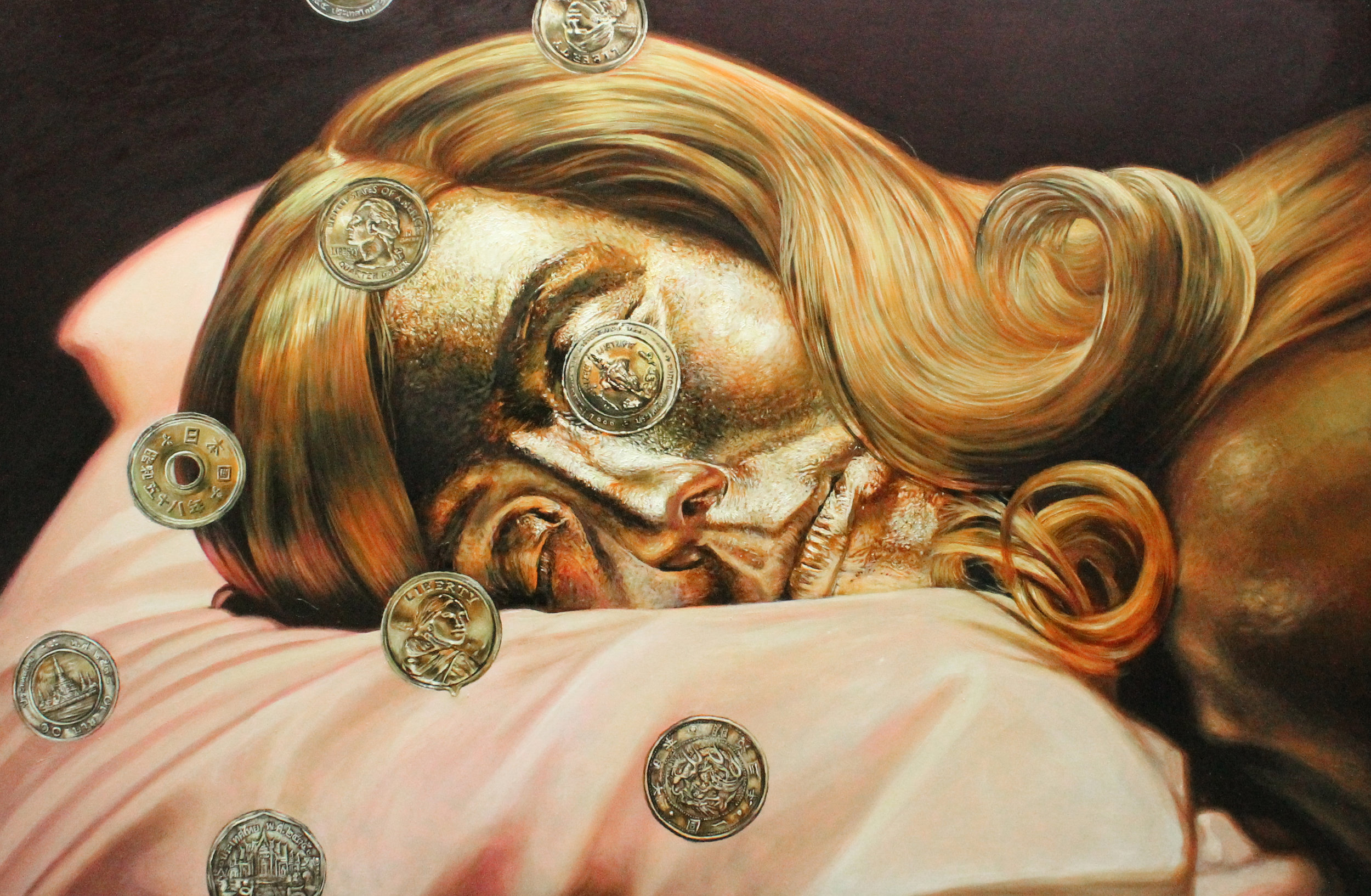 Title: Golden Dream    Year: 2018    Size: 100 x 150 cm    Technique: Oil on canvas