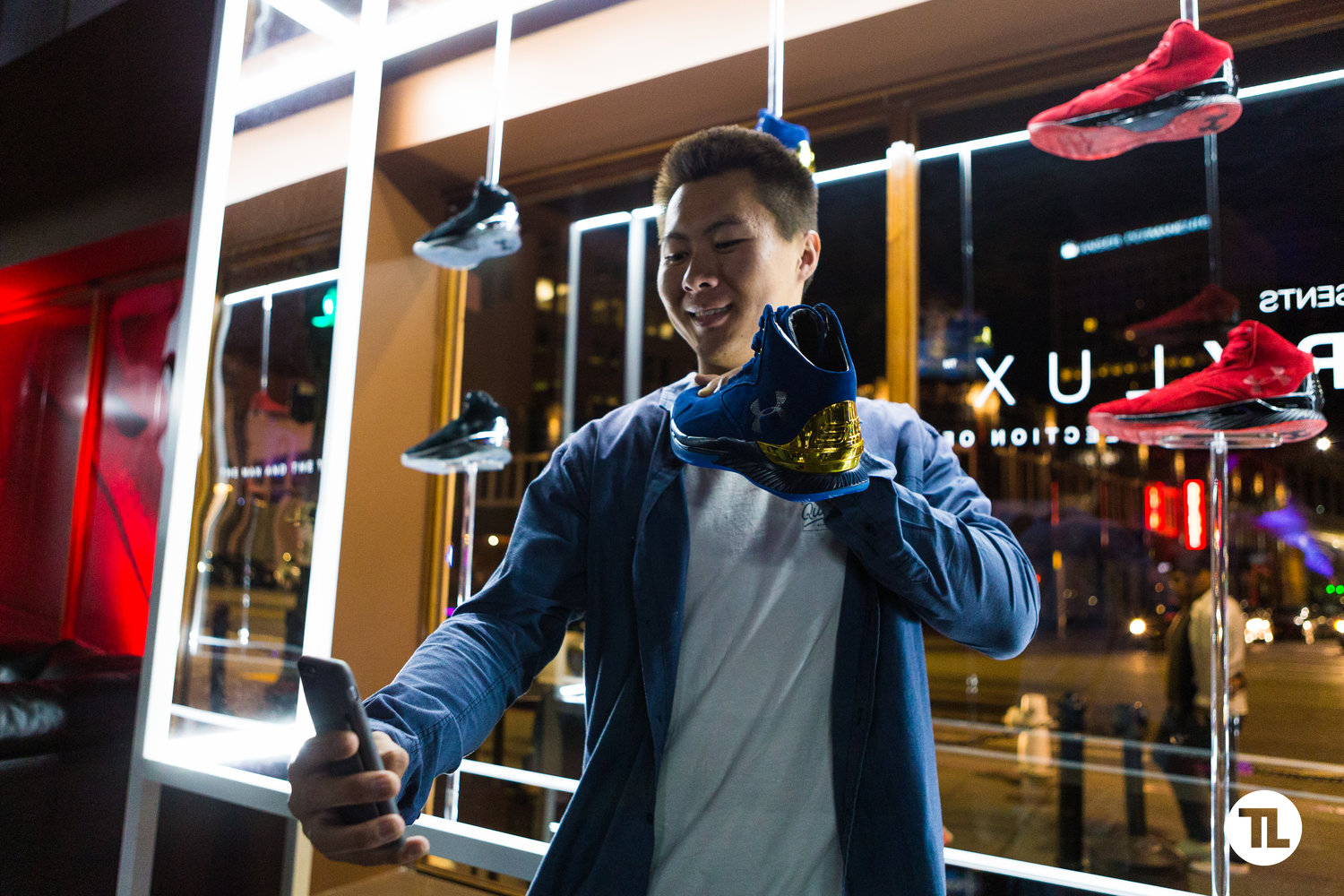 Warriors fan at the Under Armour Curry Lux Launch Event