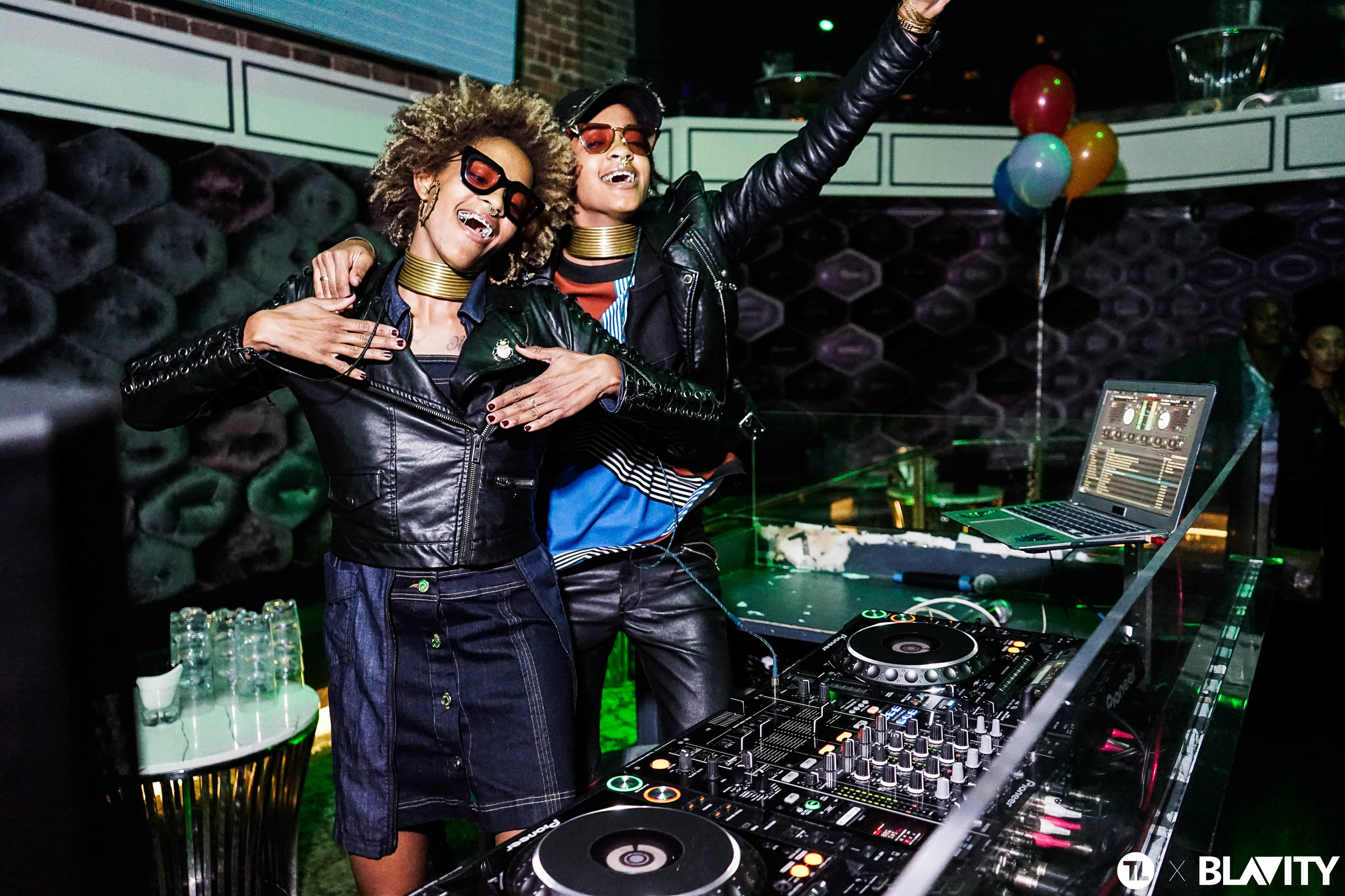 Twin DJ duo Coco & Breezy light it up at the AfroTech Conference afterparty