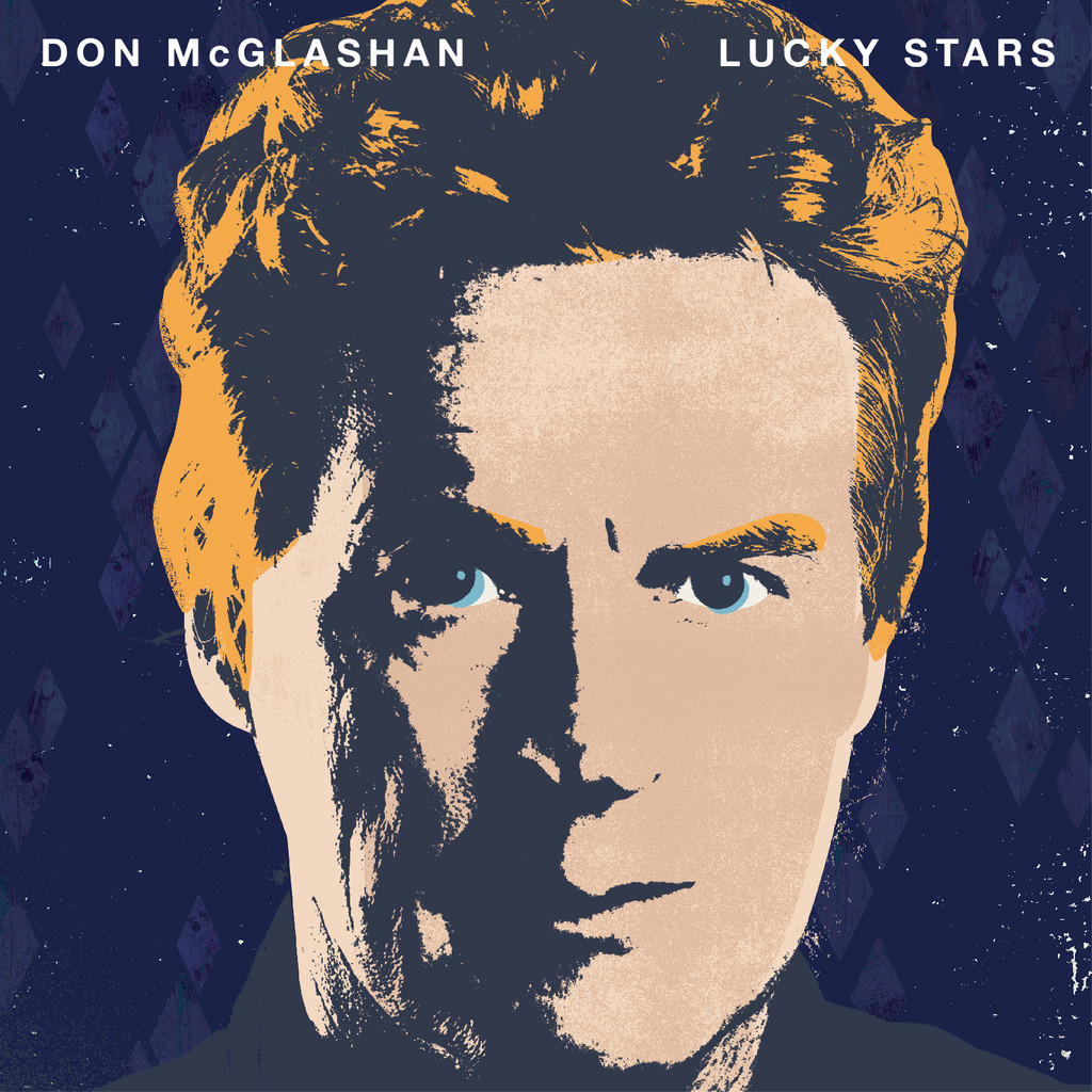 The Album cover from Don's latest album, Lucky Stars. I tried to encorporate some of the colours and textures from this in my illustration.