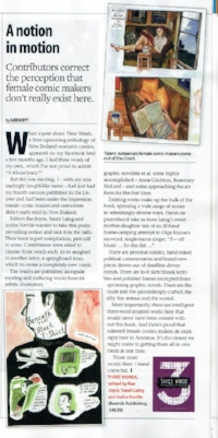 Here's a review in The Listener featuring a page of my comic, exciting!