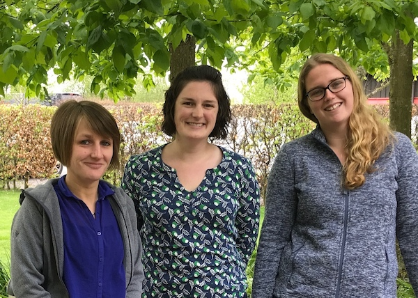 (From left to right - Emily Bartlett, Laura Grant and Beth England)