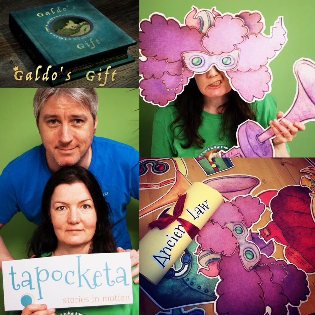 Galdo Gift mask presentation collage