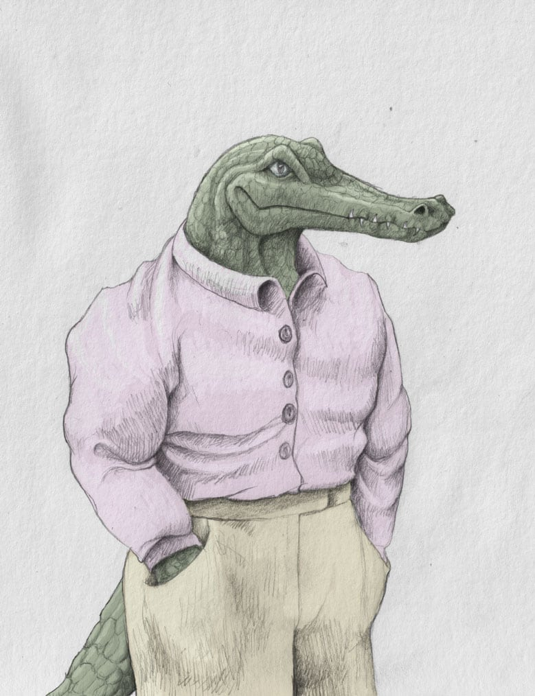 Crocodile Man Illustration