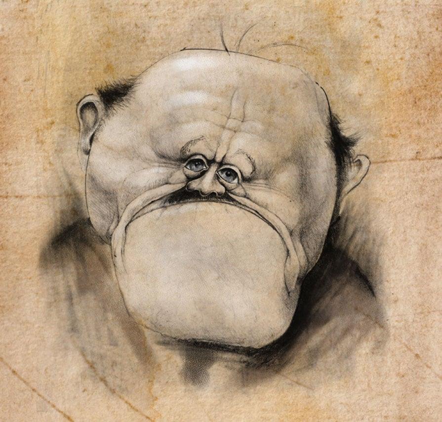 Big Chin Man Illustration