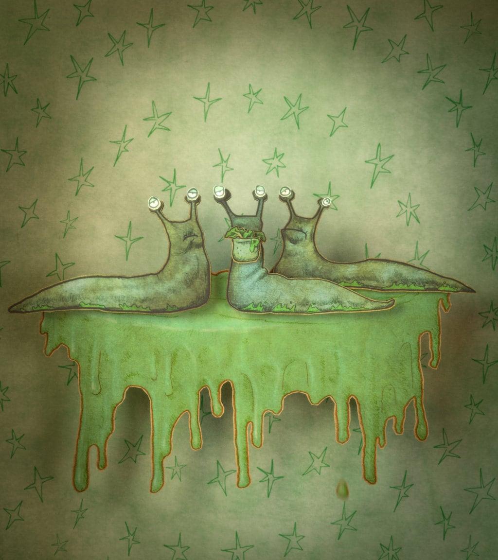 Slimy Slugs Illustration