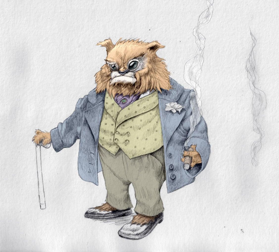 Aristocrat Cat Illustration
