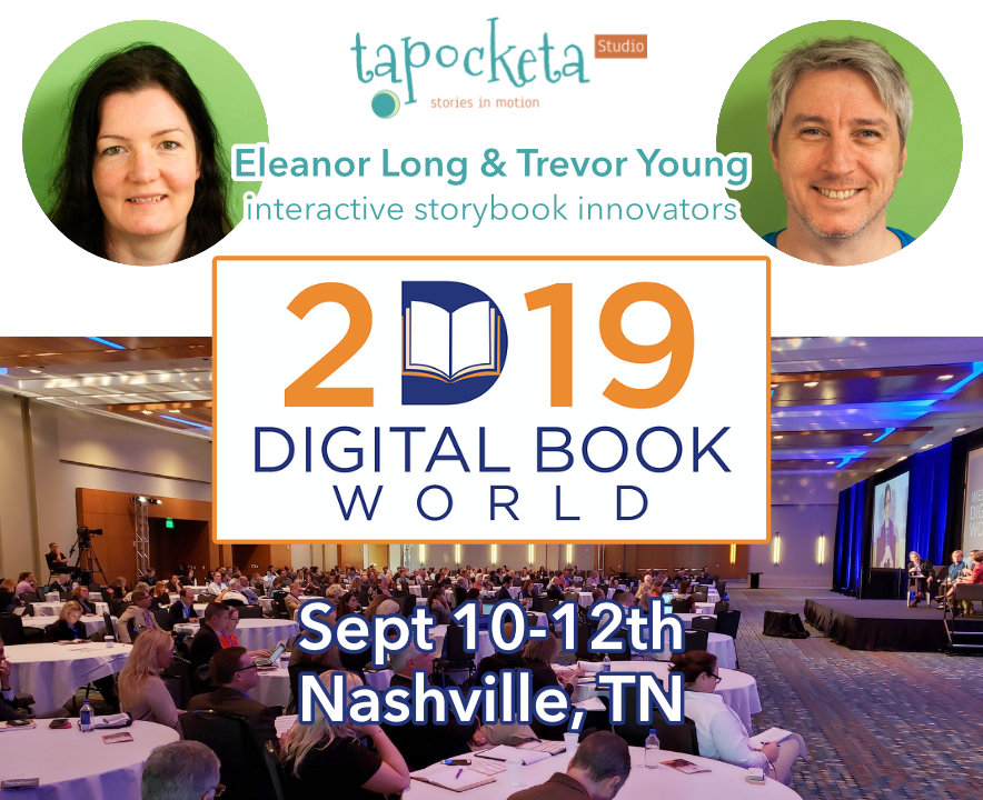 Eleanor Long and Trevor Young at the Digital Book World conference