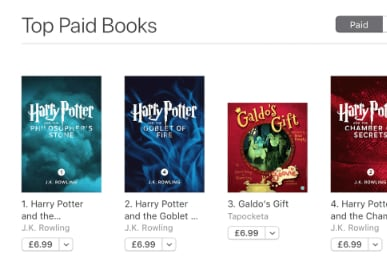 Galdo's Gift at number three position on the Apple Books Store