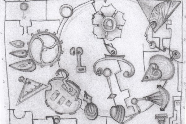 Initial rough sketch of mechanisms layout