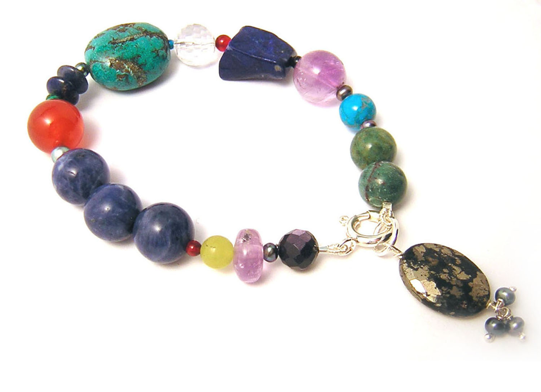 Katherine Bree Maharajah pebble bracelet blue.jpg