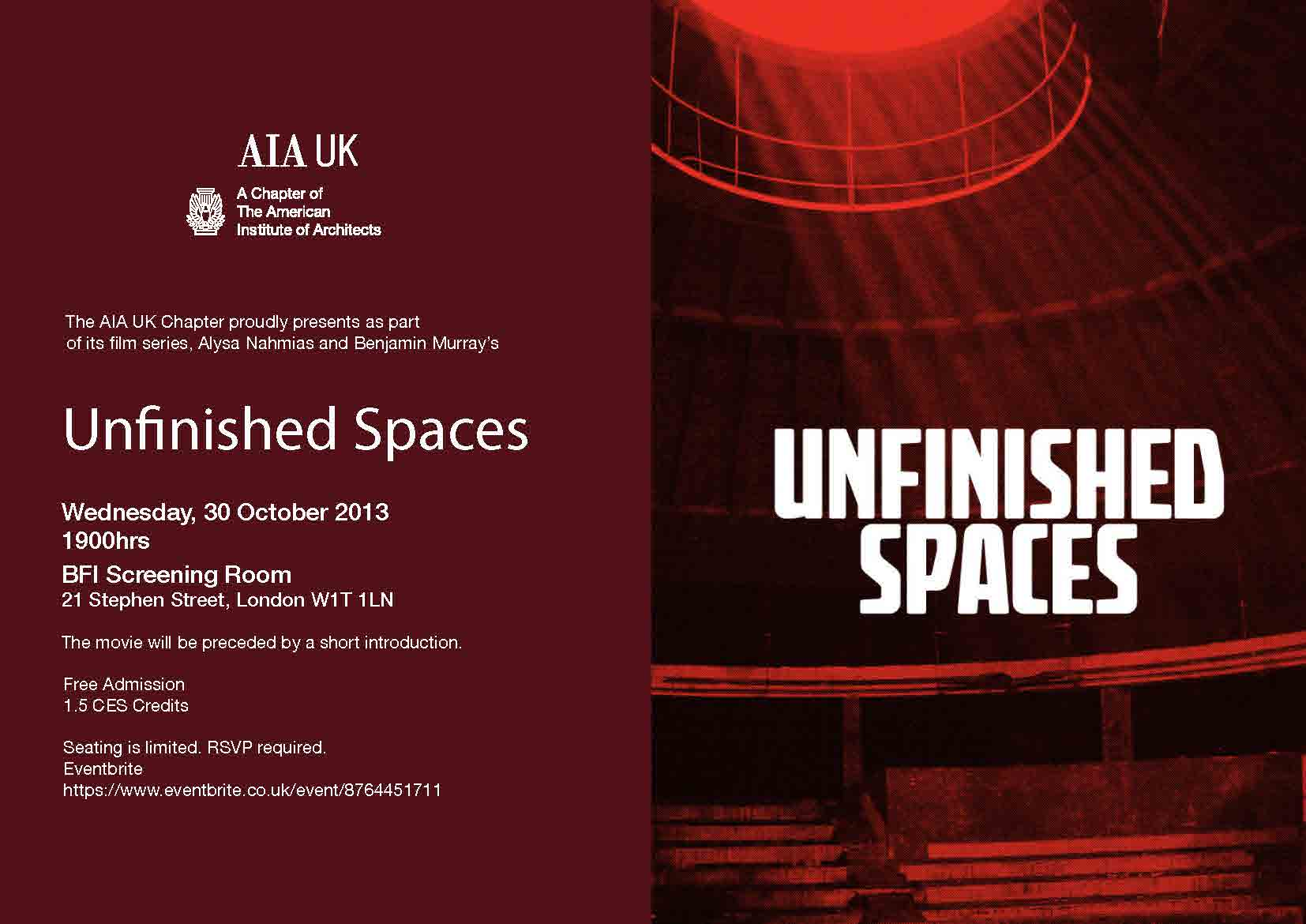 Unfinished Spaces Film Night