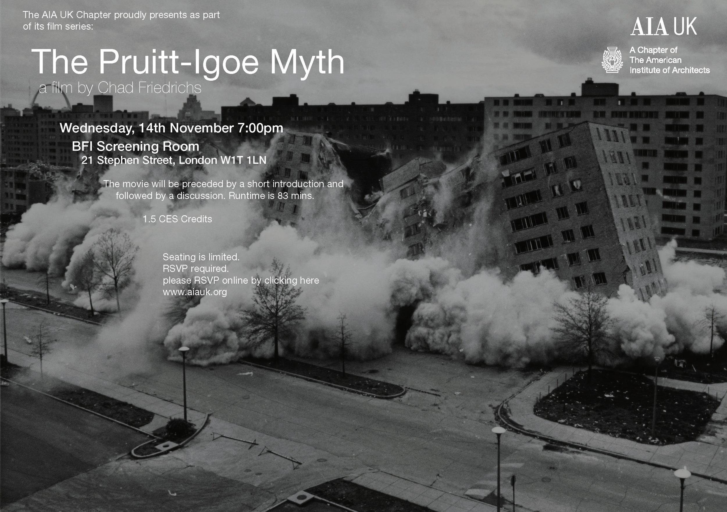 Pruitt Igoe Myth