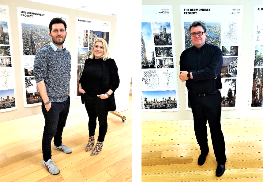 KPF's London Office: Design Director, Chris Harvey, AIA / Associate Principle Alex Miller AIA / Senior Associate Principle, Samantha Cooke, AIA. (Photo credit: L King / C. Fiallos)