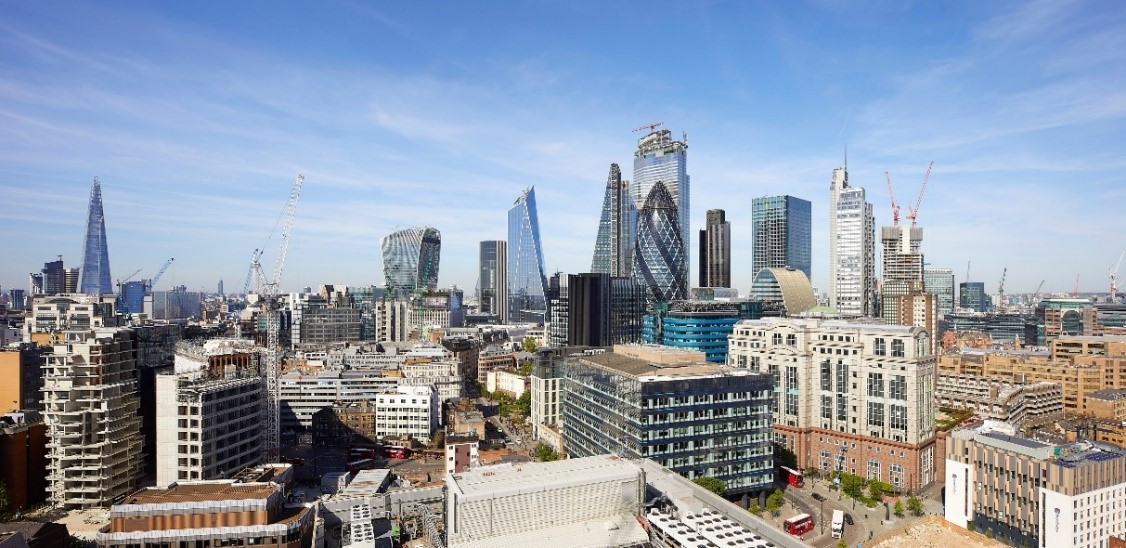 KPF's Scalpel in context: London skyline continues to grow. (Photo credit: Hufton + Crow)