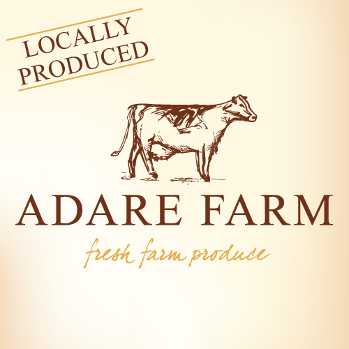 Brand identity and packaging design projects for Adare Farm