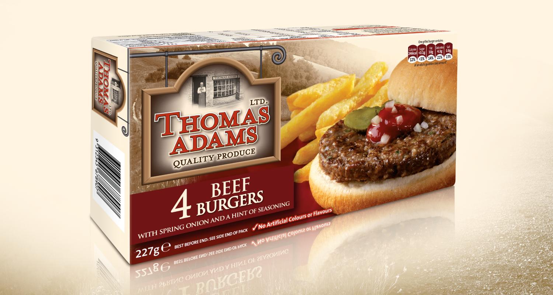 Thomas Adams Beef Burgers