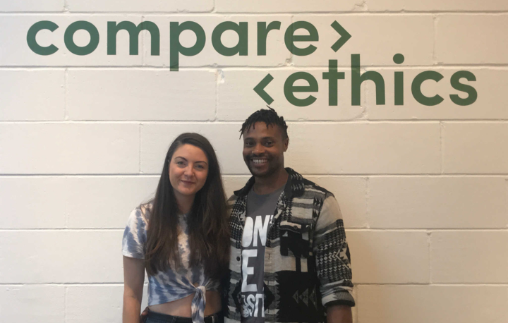 Abbie and James launched Compare Ethics in August 2018