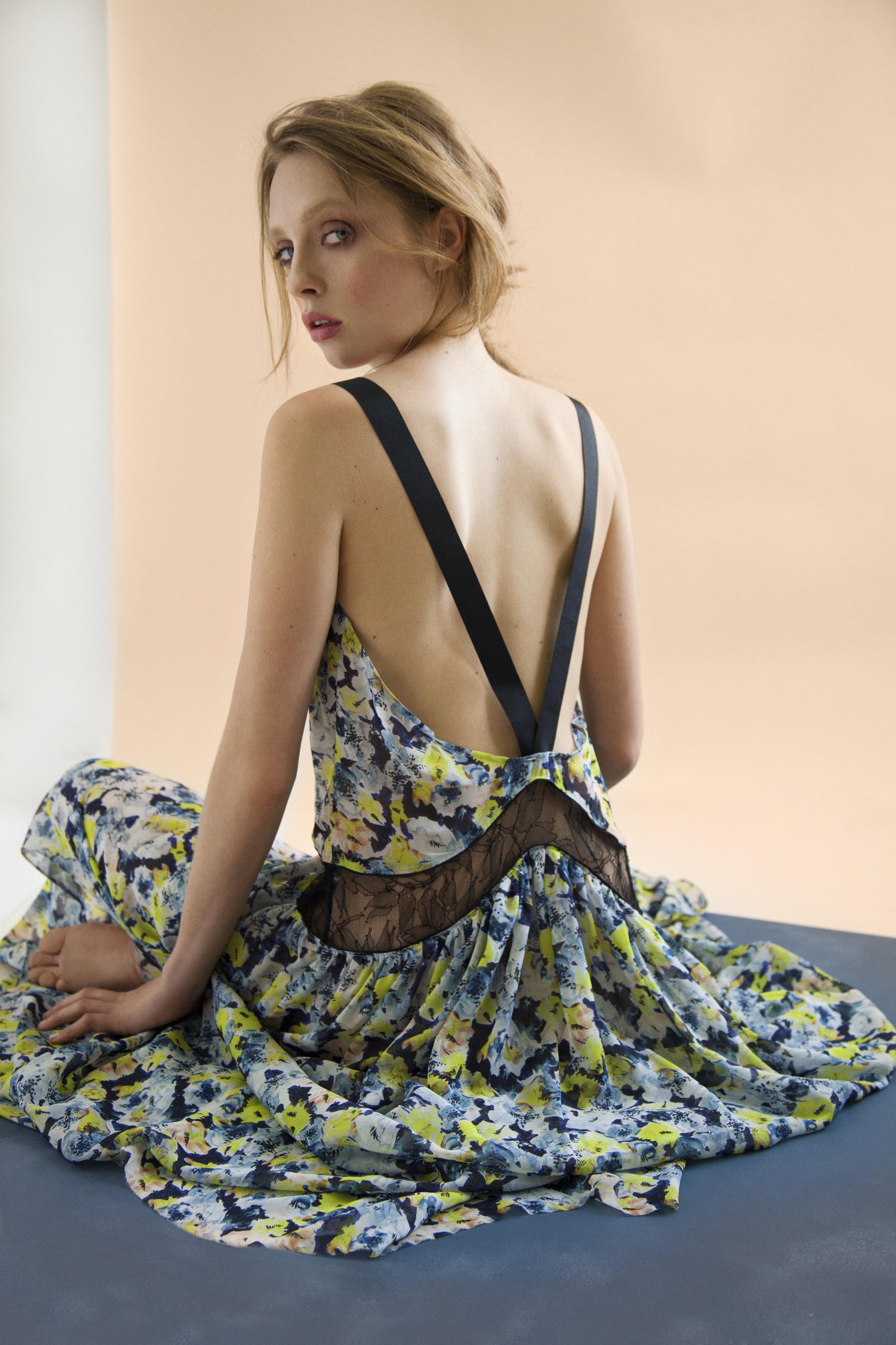 Stunning Silk Georgette Maxi Slip in Mariposa Print by Violet & Wren. Image Courtesy of Anthropologie