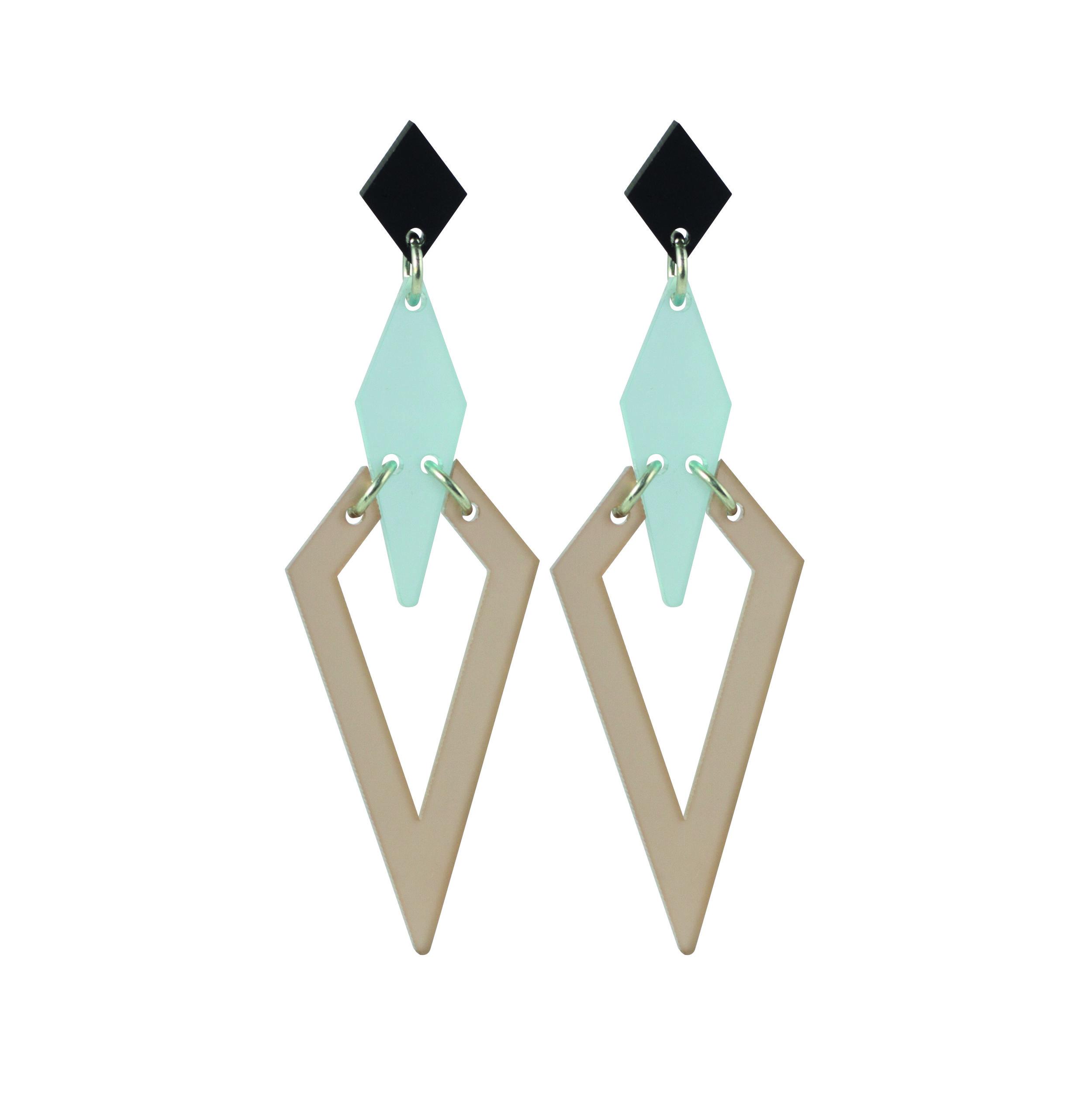 Violet & Wren x Toolally Iris Earring in Arctic Frost