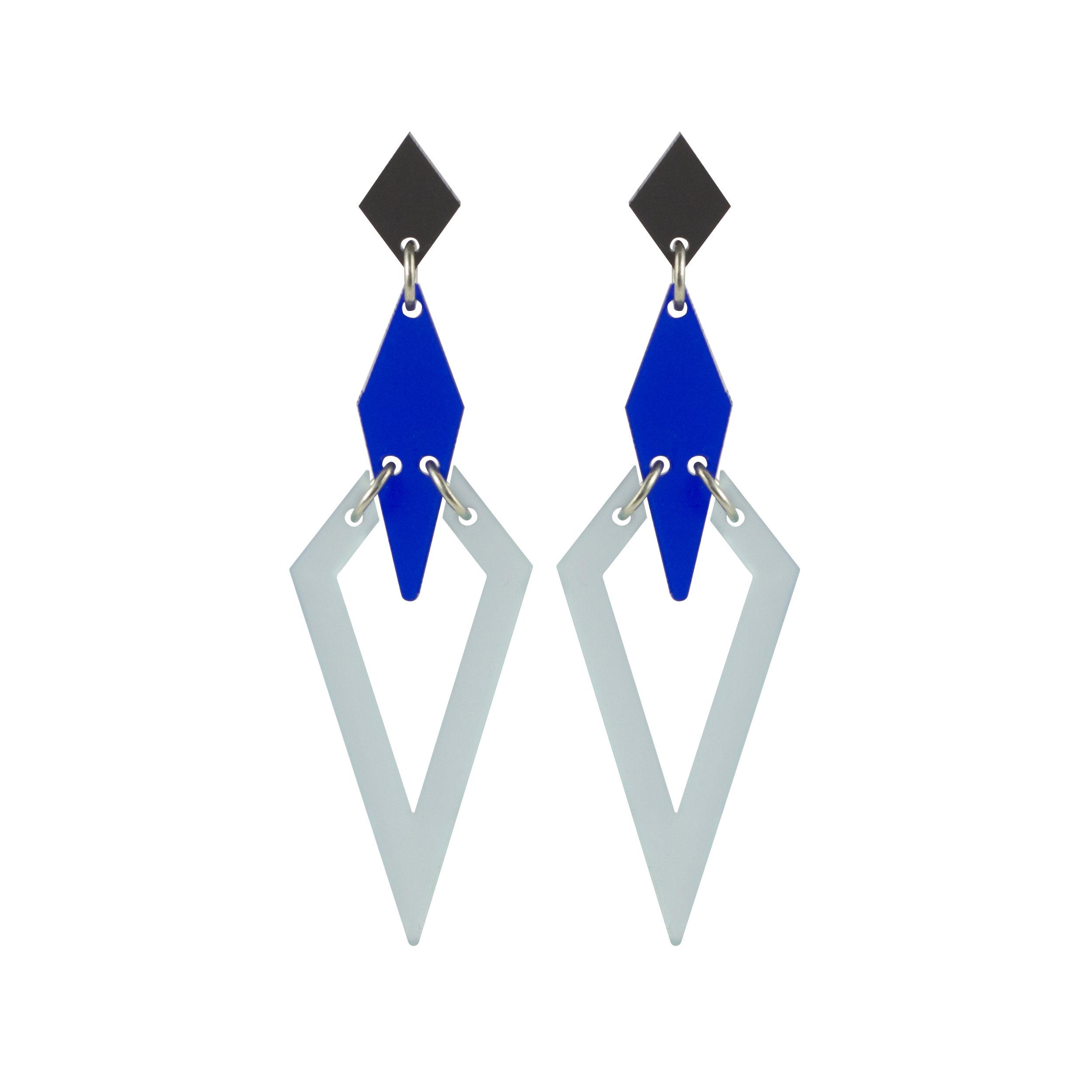 Violet & Wren x Toolally Iris Earring in Chatelaine blue