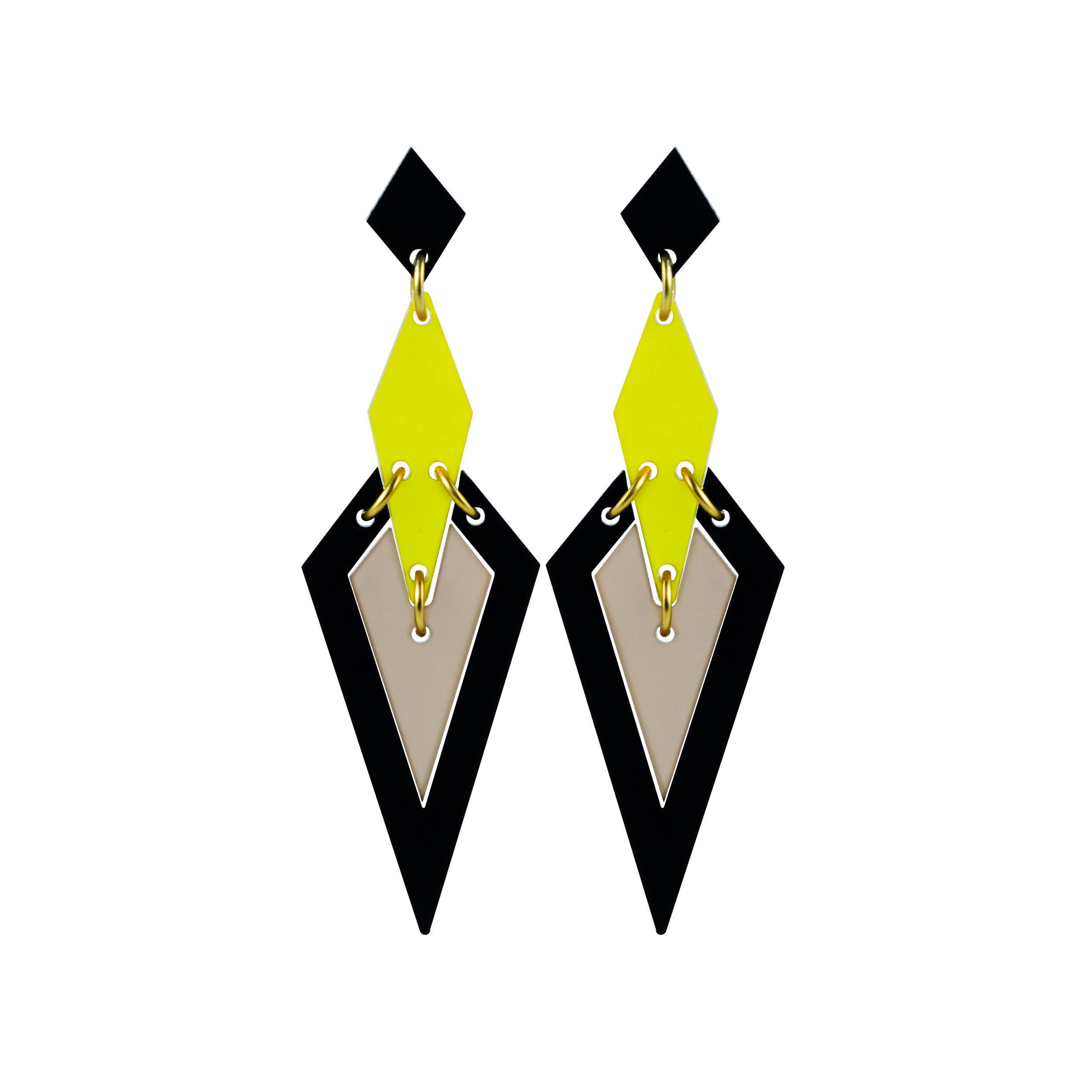 Violet & Wren x Toolally Iris Earring in Saffron Nude