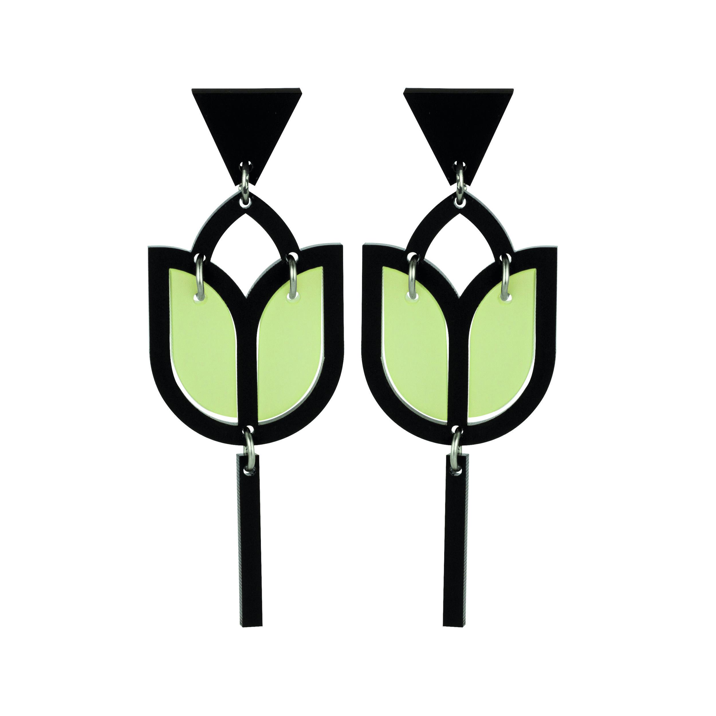 Violet & Wren x Toolally Tulip Earring in Opaline