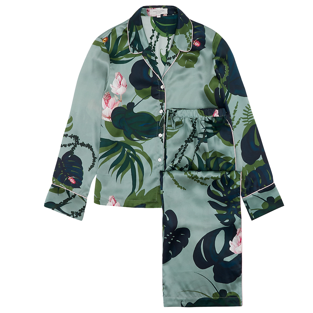 Violet & Wren AW18 - Pyjama Set in The Botanist- RRP £340.jpg