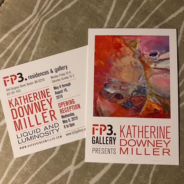 Opening Event 5/8 with #mayhewwine pairings with paintings and artist chat by @kdowneymiller  #liquidandluminosity 6-8 PM Parking behind FP3 on Farnsworth St.