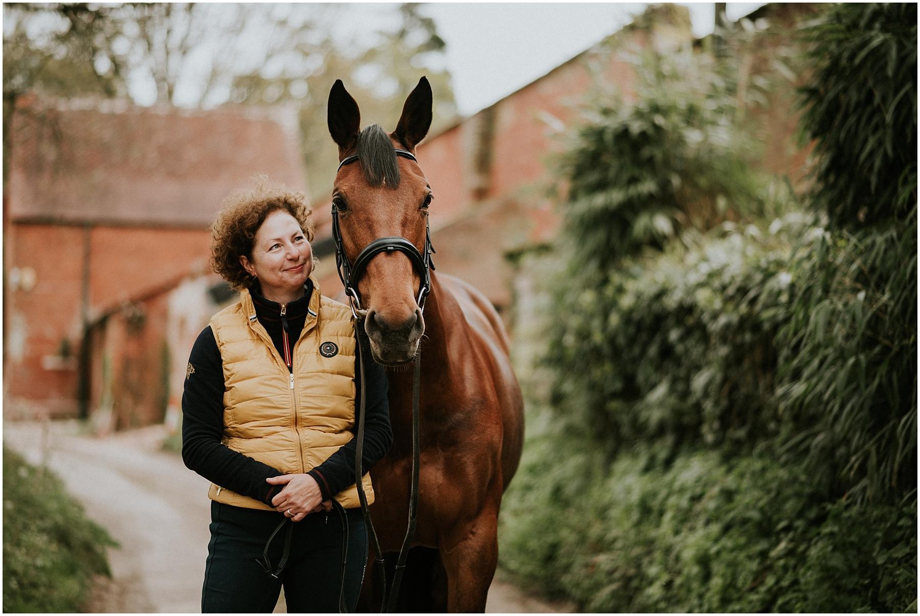 Horse photographer in devon