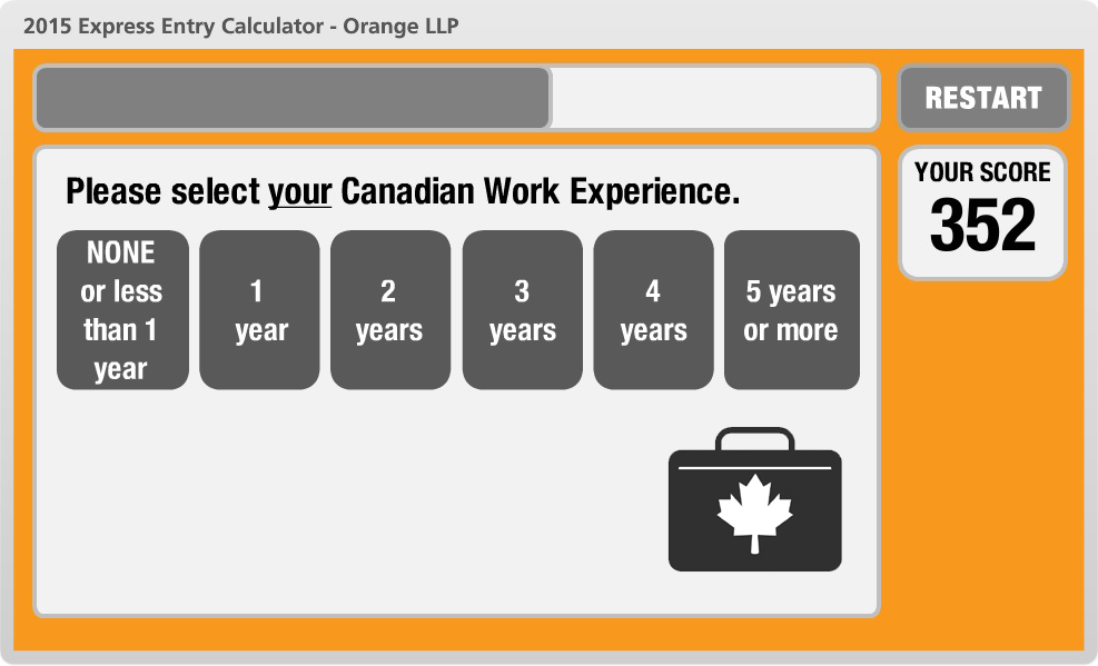 Canadian Work Experience.