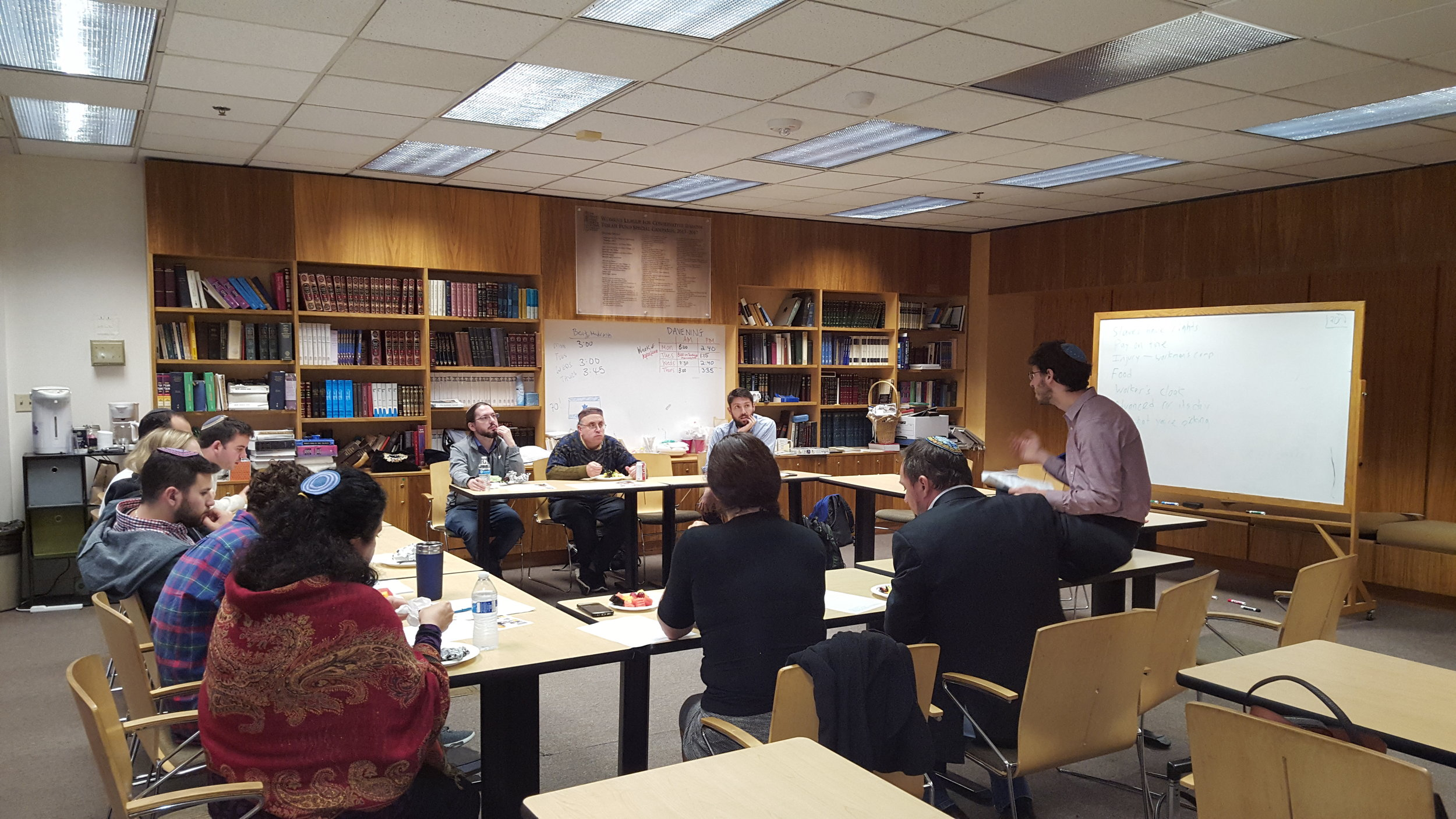 Rabbi Lev at the Ziegler School of Rabbinic Studies