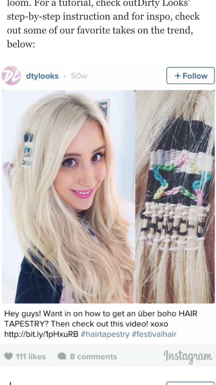 Platinum Blond with a star shaped tapestry