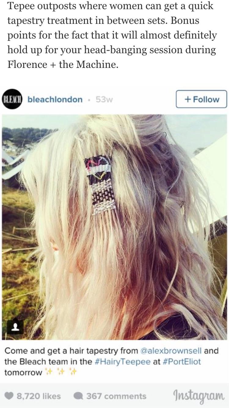 California Blond heart shaped hair tapestry